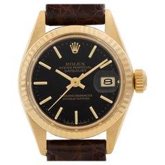 Rolex Datejust President 6917 18 Karat Black Dial Automatic Watch