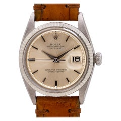 Rolex Datejust Ref# 1601 Stainless Steel and 14 Karat White Gold, circa 1962