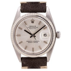 Rolex Datejust Ref 1601 Stainless Steel and 14 Karat White Gold, circa 1969