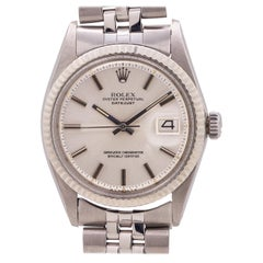 "Rolex Datejust Ref 1601 Stainless Steel and 14 Karat White Gold ""Sigma Dial"""