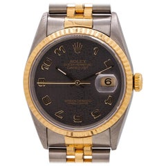 Rolex DateJust Ref# 16233 Stainless Steel and 18 Karat Jubilee Dial, circa 1993