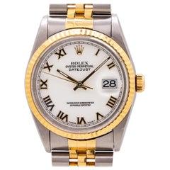 Rolex Datejust Ref 16233 Stainless Steel and 18 Karat Yellow Gold, circa 1995