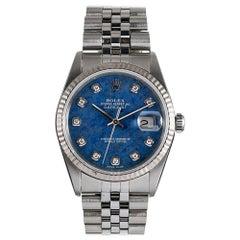 Rolex Datejust Ref. #16234 with Sodalite Diamond Dial