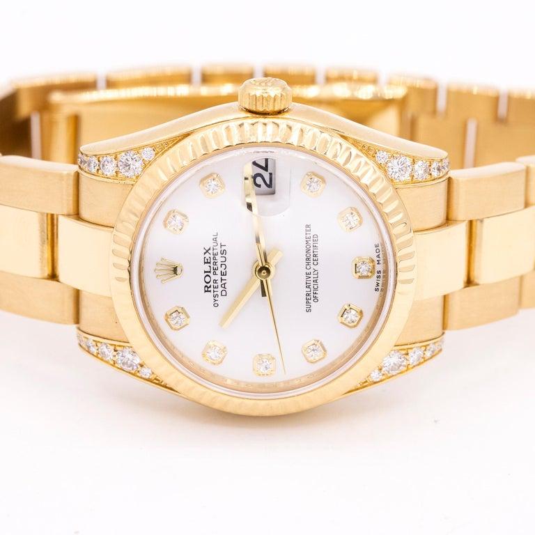 Round Cut Rolex Datejust Ref. 178238 For Sale