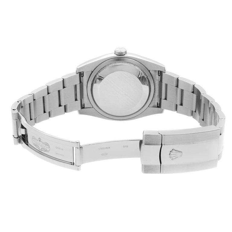 Rolex Datejust Roulette Date Steel Black Dial Automatic Men's Watch 116200 For Sale 2