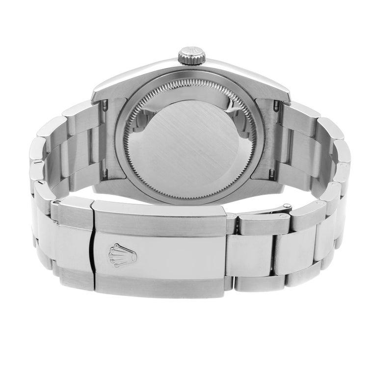 Rolex Datejust Roulette Date Steel Black Dial Automatic Men's Watch 116200 For Sale 3