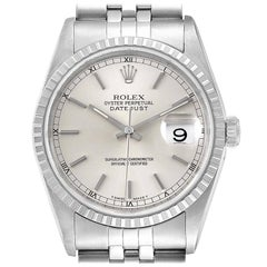 Rolex Datejust Silver Dial Jubilee Bracelet Steel Men's Watch 16220