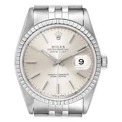 Rolex Datejust Silver Dial Jubilee Bracelet Steel Men's Watch 16220