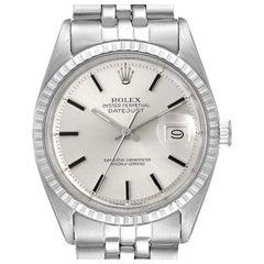 Rolex Datejust Silver Dial Jubilee Bracelet Vintage Men's Watch 1603
