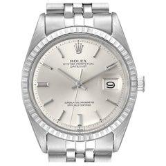 Rolex Datejust Silver Dial Vintage Steel Men's Watch 1603
