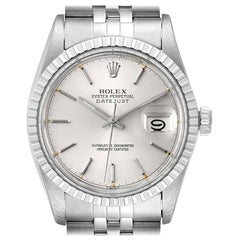 Rolex Datejust Silver Dial Vintage Steel Men's Watch 16030