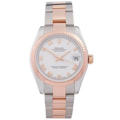 Rolex Datejust Stainless Steel and 18 Karat Rose Gold Women's 178271
