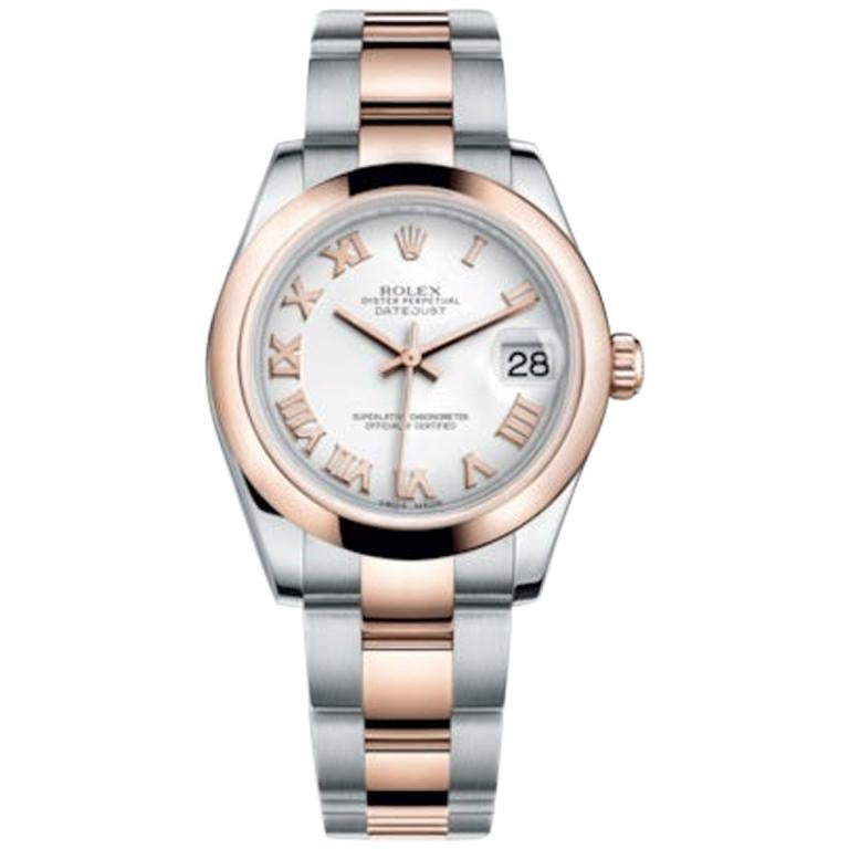 Rolex Datejust Stainless Steel and Rose Gold Ladies Watch Model #: 178241 For Sale