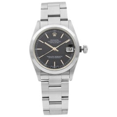 Rolex Datejust Stainless Steel Black Dial Automatic Ladies Watch 78240