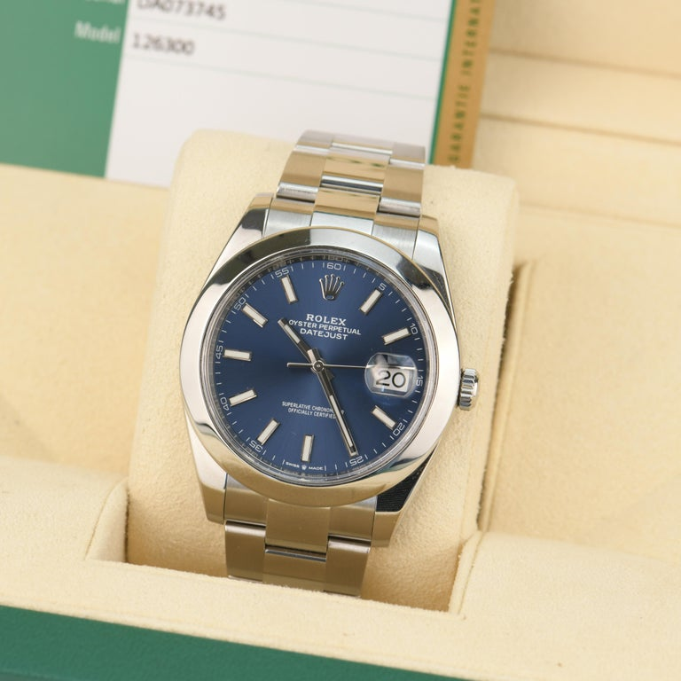 Rolex Datejust Stainless Steel Men's Watch m126300-0001 For Sale 2