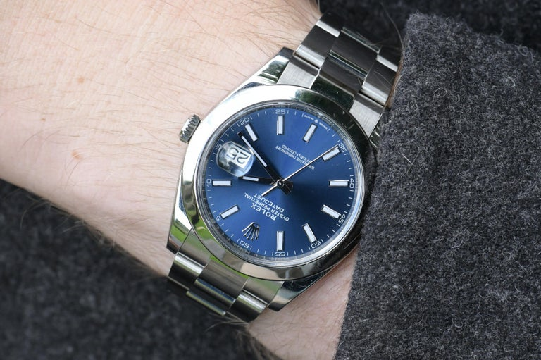 Rolex Datejust Stainless Steel Men's Watch m126300-0001 For Sale 1