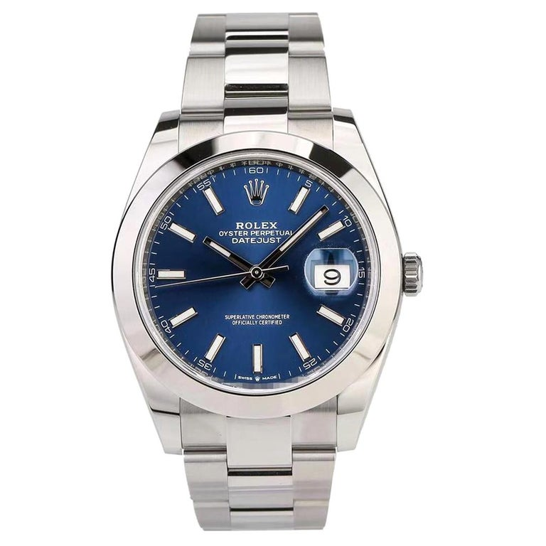 Rolex Datejust Stainless Steel Men's Watch m126300-0001 For Sale