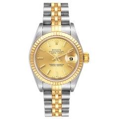 Rolex Datejust Steel 18 Karat Yellow Gold Ladies Watch 79173