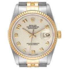 Rolex Datejust Steel 18K Yellow Gold Anniversary Dial Mens Watch 16233