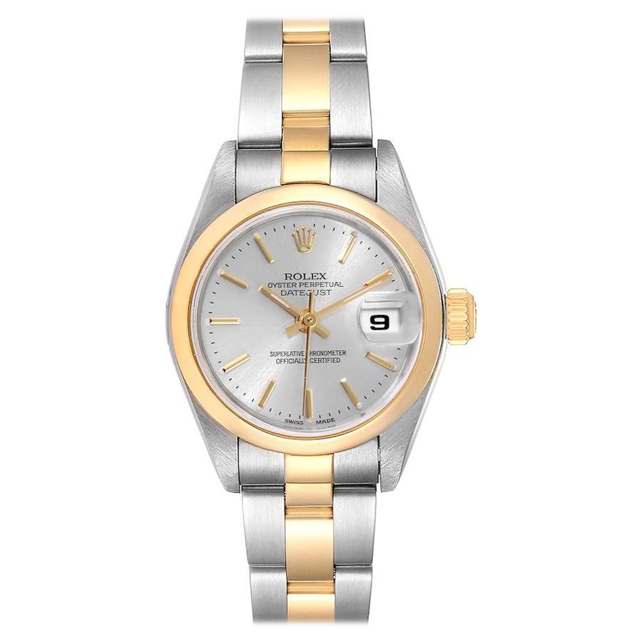 Rolex Datejust Steel 18k Yellow Gold Silver Dial Ladies Watch 79163