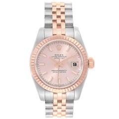 Rolex Datejust Steel Everose Gold Ladies Watch 179171 Box Papers