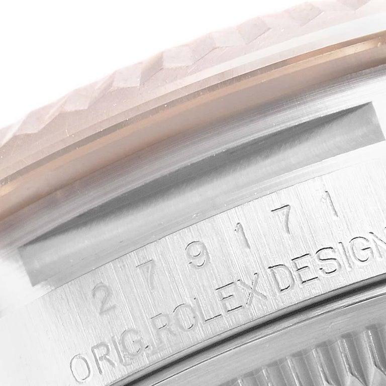Rolex Datejust Steel Rose Gold Chocolate Diamond Watch 279171 Box Card For Sale 3
