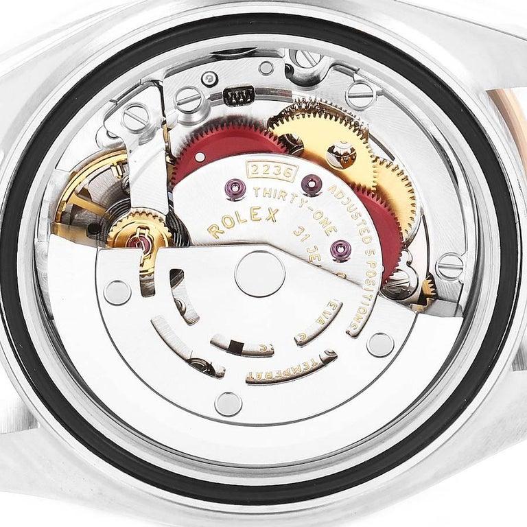 Rolex Datejust Steel Rose Gold Chocolate Diamond Watch 279171 Box Card For Sale 4