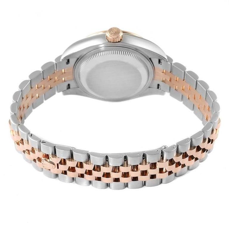 Rolex Datejust Steel Rose Gold Chocolate Diamond Watch 279171 Box Card For Sale 5