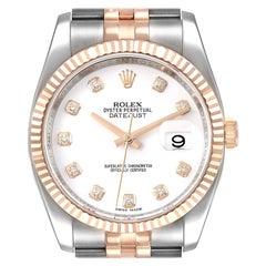 Rolex Datejust Steel Rose Gold Diamond Unisex Watch 116231