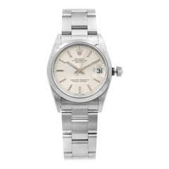 Rolex Datejust Steel Silver Tapestry Dial Automatic Ladies Watch 78240