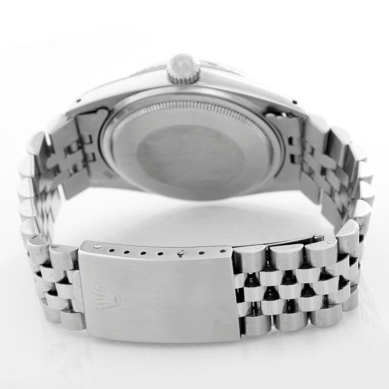 Rolex Datejust Steel Watch 1601 Orange Dial Men's Watch In Excellent Condition For Sale In Dallas, TX