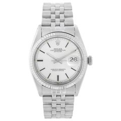 Rolex Datejust Steel Watch 1601 Silver Dial