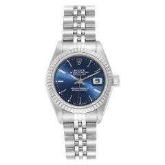 Rolex Datejust Steel White Gold Blue Dial Ladies Watch 69174