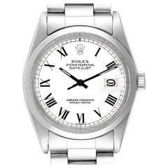 Rolex Datejust Steel White Gold Buckley Dial Vintage Men's Watch 1600