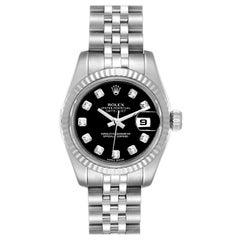 Rolex Datejust Steel White Gold Diamond Ladies Watch 79174 Box Card