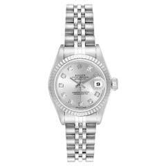 Rolex Datejust Steel White Gold Diamond Ladies Watch 79174 Box Papers