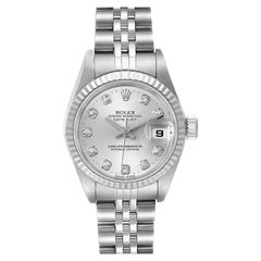 Rolex Datejust Steel White Gold Diamond Ladies Watch 79174