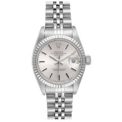 Rolex Datejust Steel White Gold Jubilee Bracelet Ladies Watch 69174