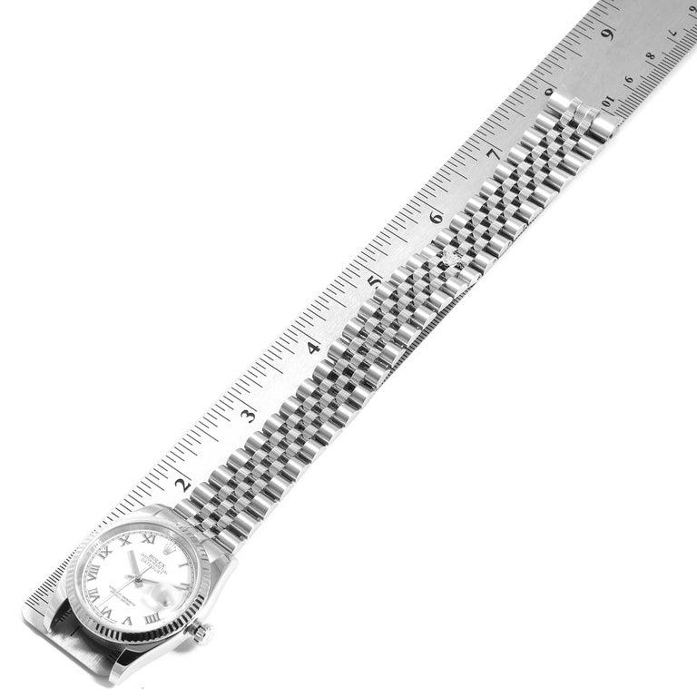 Rolex Datejust Steel White Gold Jubilee Bracelet Men's Watch 116234 7