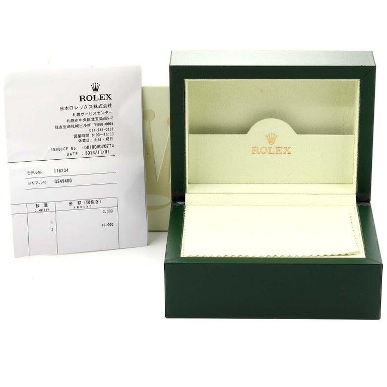 Rolex Datejust Steel White Gold Jubilee Bracelet Men's Watch 116234 9