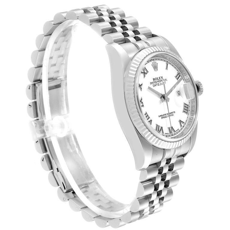 Rolex Datejust Steel White Gold Jubilee Bracelet Men's Watch 116234 In Excellent Condition In Atlanta, GA