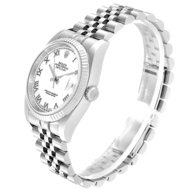 Rolex Datejust Steel White Gold Jubilee Bracelet Men's Watch 116234 1