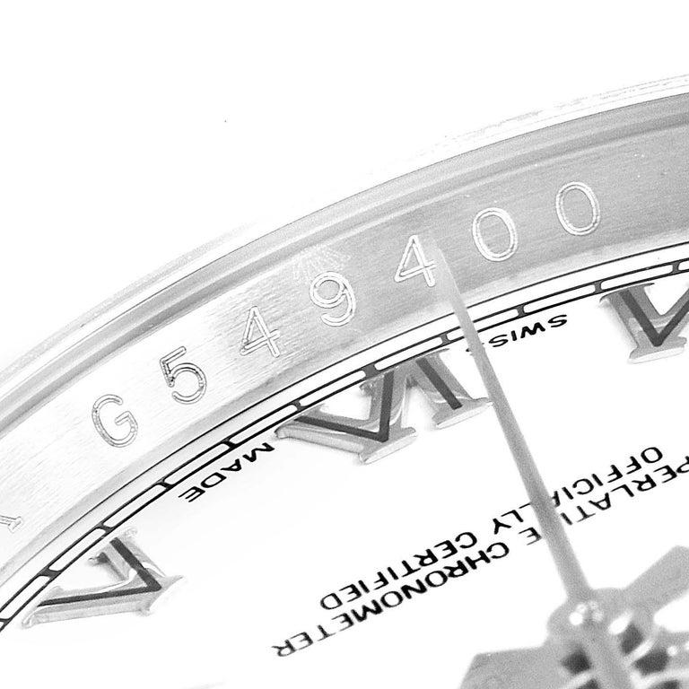Rolex Datejust Steel White Gold Jubilee Bracelet Men's Watch 116234 4