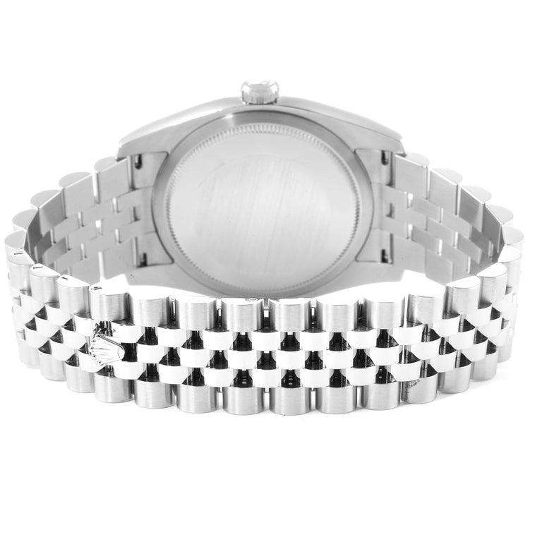 Rolex Datejust Steel White Gold Jubilee Bracelet Men's Watch 116234 6