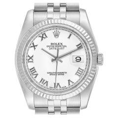 Rolex Datejust Steel White Gold Jubilee Bracelet Watch 116234