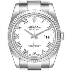 Rolex Datejust Steel White Gold Men's Watch 116234 Box Papers