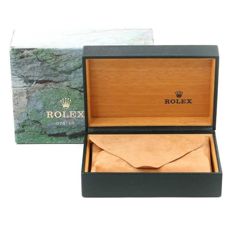 Rolex Datejust Steel White Gold Salmon Diamond Dial Men's Watch 16234 For Sale 8