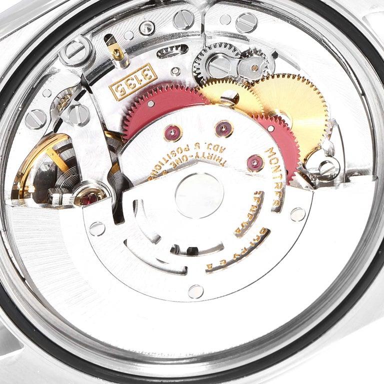 Rolex Datejust Steel White Gold Salmon Diamond Dial Men's Watch 16234 3