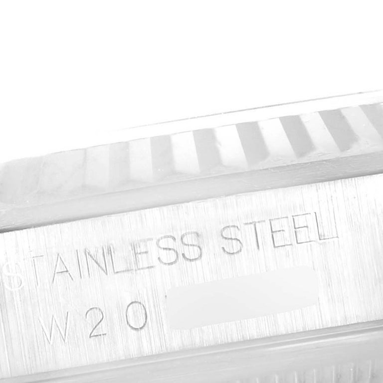 Rolex Datejust Steel White Gold Salmon Diamond Dial Men's Watch 16234 For Sale 3