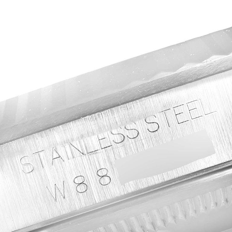 Rolex Datejust Steel White Gold Salmon Diamond Dial Men's Watch 16234 4